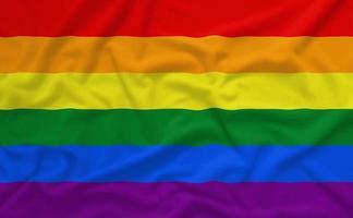 Regenbogen Homosexuell Stolz Flagge foto