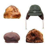 Retro Hüte und Mützen foto