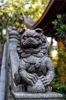 Lingyin Tempel Löwe foto