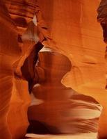 Antilopen-Slot-Canyon in Seite Arizona foto