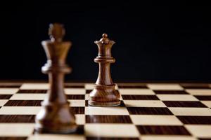 Schachkönig und Königin foto