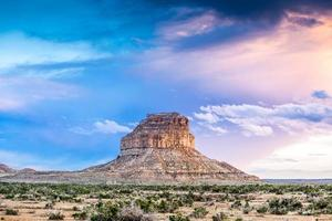 Fajada Butte im nationalen historischen Park der Chaco-Kultur, New Mexico foto