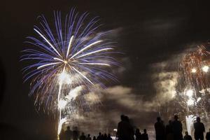 Seekampf Feuerwerk foto