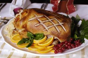 Weihnachtsente Abendessen foto