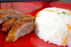 plat de riz et canard laqué foto