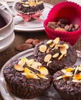 Haferflocken von Muffin foto