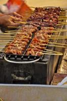Barbecue Schweinefleisch Grill in Thailand foto