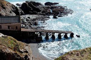 Eidechsenrettungsbootrampe in Cornwall foto