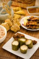 malaiische Hari Raya Lebensmittel Lemang