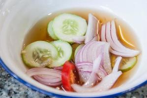 traditionelle Sauce (süß und sauer) foto