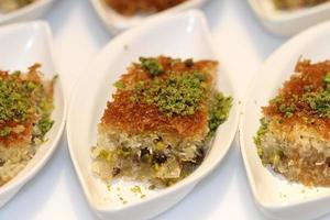 süßer Nachtisch aus dem Nahen Osten foto