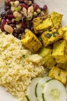 indischer Curry-Tofu foto
