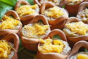 Mungbohnen Thai Pudding Dessert Rezept foto