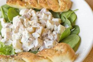 Kartoffelsalat Spinat foto
