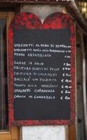 Menü in Venedig foto