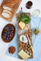 Auswahl an Käse für die Party foto