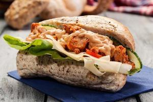 Kebab-Sandwich foto