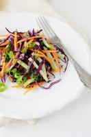 Salat mit Karotten und Kohl foto