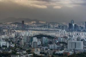 Sonnenuntergang über Seoul