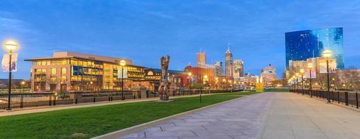 Skyline der Innenstadt von Indianapolis foto