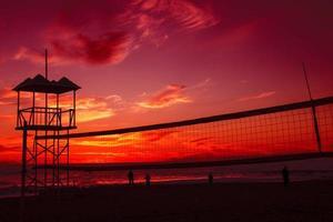Sonnenuntergang und Kinder foto
