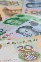 chinesische Banknoten für Hintergrund foto