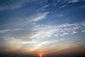 Sonnenuntergang für Hintergrund