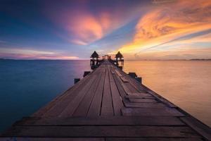 Sonnenuntergang Seelandschaft in Thailand. foto