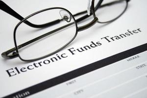 elektronischer Geldtransfer foto