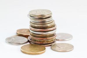 Stapel Münzen. foto