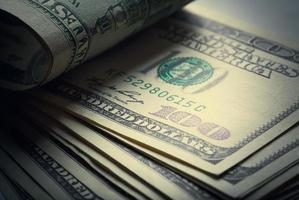 Geld amerikanische Hundert-Dollar-Scheine foto