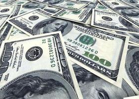 Geld Hintergrund aus Dollar USA foto