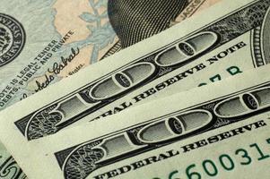 Dollar Banken notieren Geld Hintergrund foto