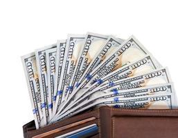 Dollar in Brieftasche foto