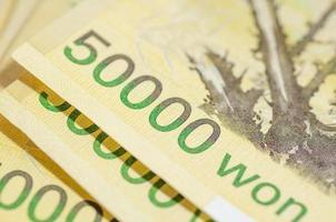 50000 Won von Korea Geld foto