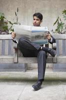 Geschäftsmann im Büro foto