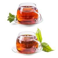 Satz Tassen mit Tee foto