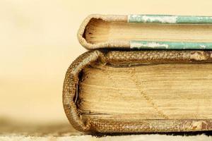 Zwei Bücher sind geschlossen foto