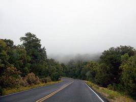 neblige Straße in Arizona