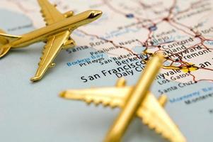 Flugzeug über San Francisco foto