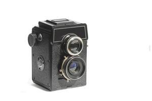 Amateur Vintage Mittelformatkamera mit zwei Objektivspiegeln