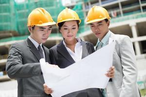 Baustellen-Team foto