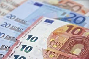 Geld - Euro-Banknoten - Währung der Europäischen Union foto