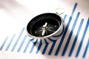Diagrammkonzept mit Kompass foto