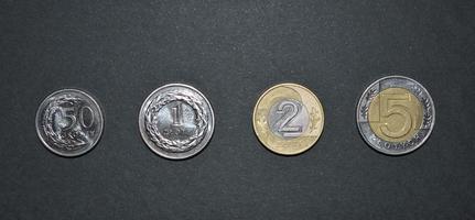 Zloty Münze polnisch Geld pln Währung foto