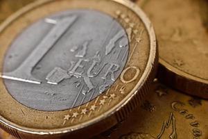 eine Euro-Münze foto
