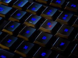 "Tastatur mit roter ""€"" -Taste foto"