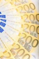 Über den Boden verteilte Euro-Banknoten - europäische Währung foto
