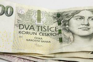 tschechische korunas czk, banknoten