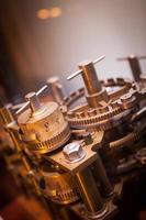 Industrie Zahnrad Maschine Zahnrad, geschäftliche Zusammenarbeit, Teamwork und Zeitkonzept foto